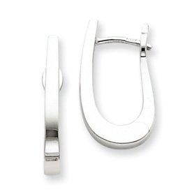 PriceRock  14k Gold White Gold Hoop Earrings  Price: $556.36