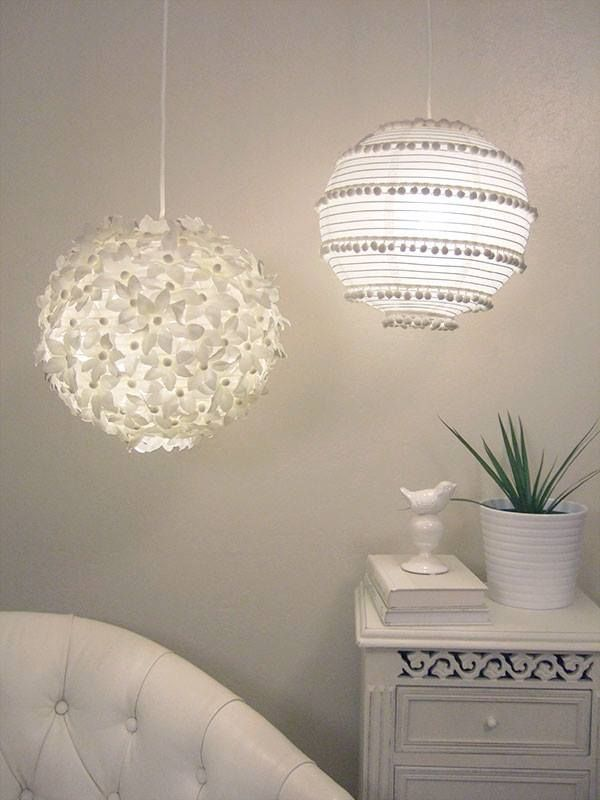 DIY paper lanterns u2014 flowers and pom poms