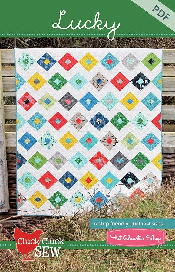 Cluck Cluck Sew Lucky Downloadable PDF Quilt PatternCluck Cluck Sew - Quilt Patterns | Fat Quarter Shop