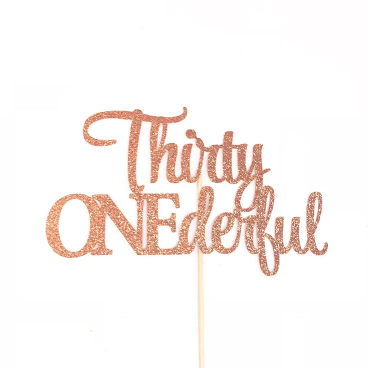 Thirty ONEderful Cake Topper, Thirty Onederful Cake Topper