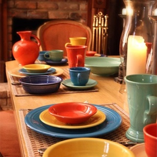 decorating with fiestaware | My Web Value