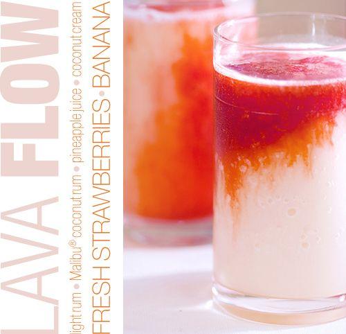 Lava Flow: Pineapple Juice, Summer Parties, Frozen Strawberries, Lava Flowing, Coconut Rum, Lights Rum, Strawberries Bananas, Coconut Cream, Flowing Cocktails