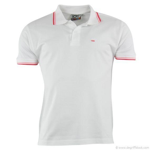 Polo blanc homme Crossby - Dégriff'Stock  Polo classique et indémodable proposé par Crossby. Sur un bermuda pour un look branché et décontracté. Sur un pantalon pour un style un peu plus soigné et habillé.