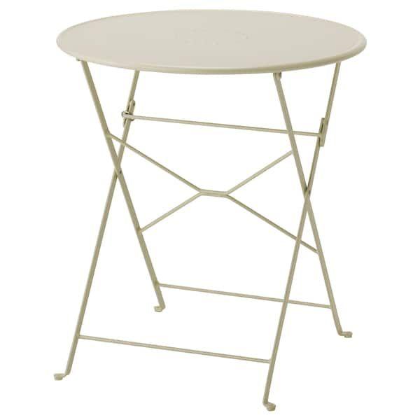 Saltholmen Table Outdoor Foldable Beige 25 5 8 Ikea Table En Acier Table Pliante Plein Air Ikea