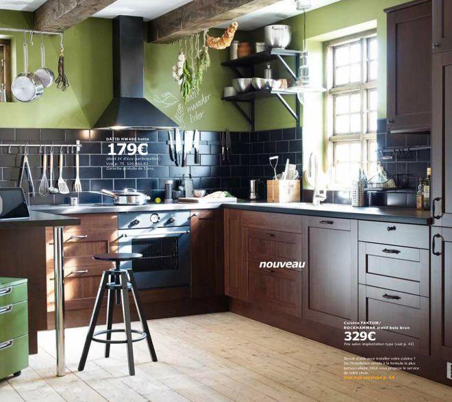 Trend Mod le de cuisine Ikea Faktum Rockhammar motif bois brun rustique contemporaine