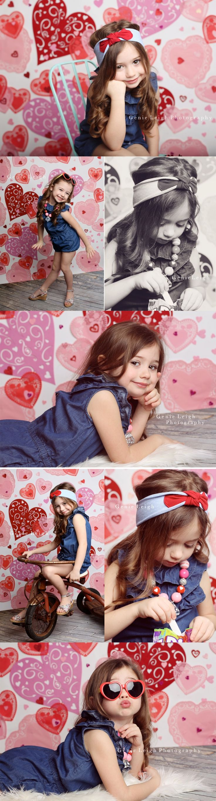 Be My Valentines  Genie Leigh Photography Valentines Day Backdrop Heart Dollies