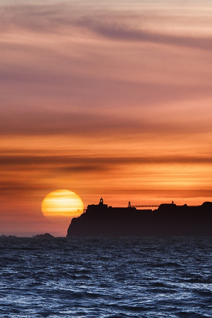 Transit of Venus 2012: Sunset behind Point Bonita | Marco