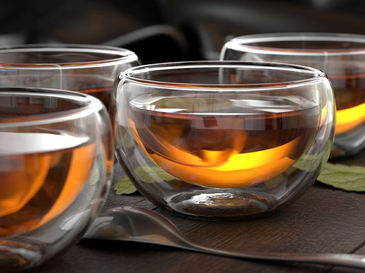 Glass Tea Cups (2pk)