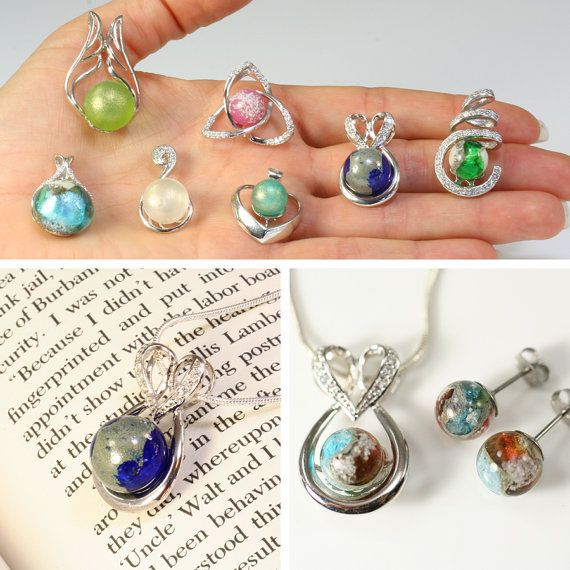 STERLING Love KNOT™ Handmade Memory Glass Lampwork Bead. Jewelery w your loved one's ashes, cremains or hair. Cremation Glass pet memorial