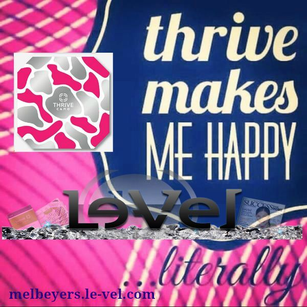 We think about THRIVE, for things like energy and weight loss but do you all realize that THRIVE can also help you with your mood? Yes! Thrive supplements help with mood support and stress management so keep positive all day long ... use your THRIVE!! Your day will only get better and better!  http://melbeyers.le-vel.com/Products/THRIVE