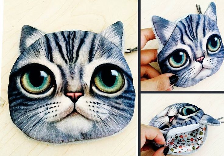Green Eyes Cat coin purse