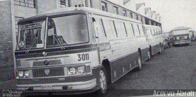 Ônibus da empresa Empresa de Ônibus Nossa Senhora da Penha, carro 3011, carroceria Marcopolo II, chassi Scania B110. Foto na cidade de Curitiba-PR por Acervo Abrati, publicada em 08/10/2014 14:13:01.