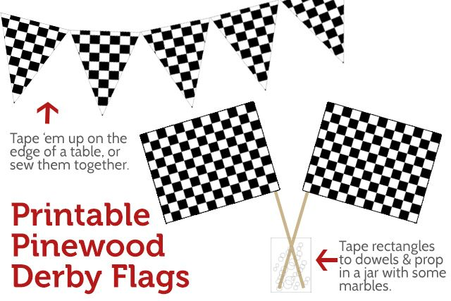 Pinewood Derby printables and ideas