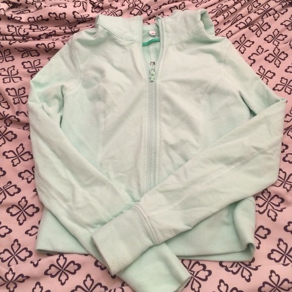 Lululemon mint green zip up Lulu lemon mint green zip up! Form fitting! lululemon athletica Tops Sweatshirts & Hoodies