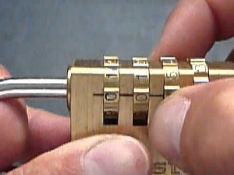 Ouvrir un cadenas à code sans en avoir le code ^^ Open a padlock with code without the code - YouTube