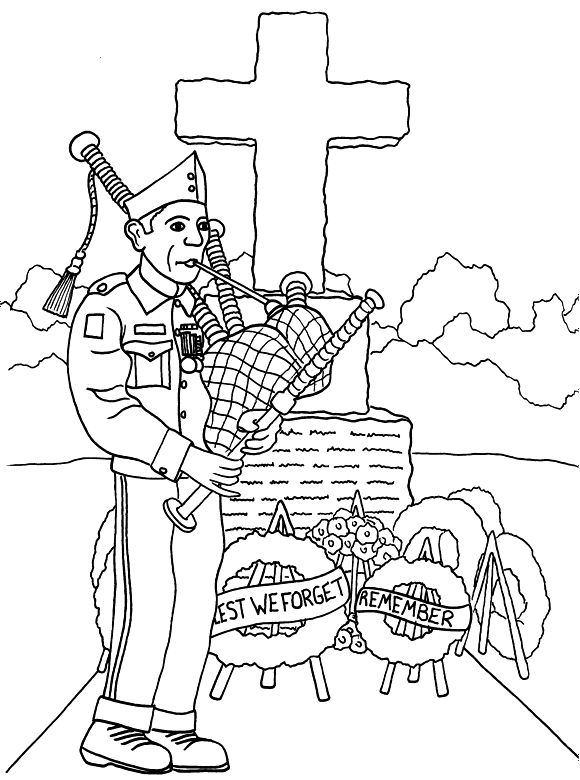 Veteran 39 s Day Coloring Page Church
