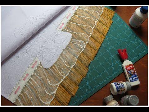 Como desenhar e pintar um lindo barrado falso - Aula de pintura em tecido - YouTube