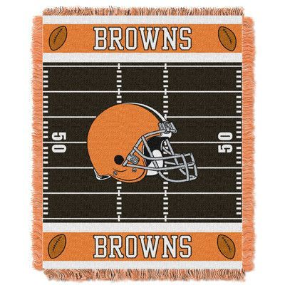 Northwest Co. NFL Browns Field Baby Blanket