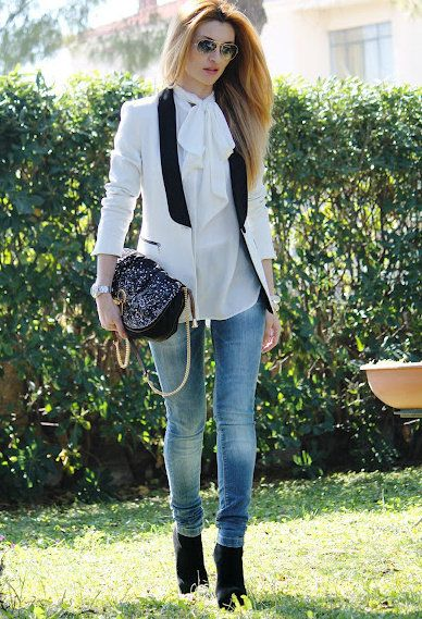 smoking blazer , Zara in Shirt / Blouses, Zara in Jeans, Zara in Blazers