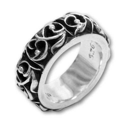 Chrome Hearts Ring_band 【Brand】 Chrome Hearts 【Model / Size】Width 8mm  【Raw materia】 Silver:925 http://www.chromeheartsonlineoutlet.com/