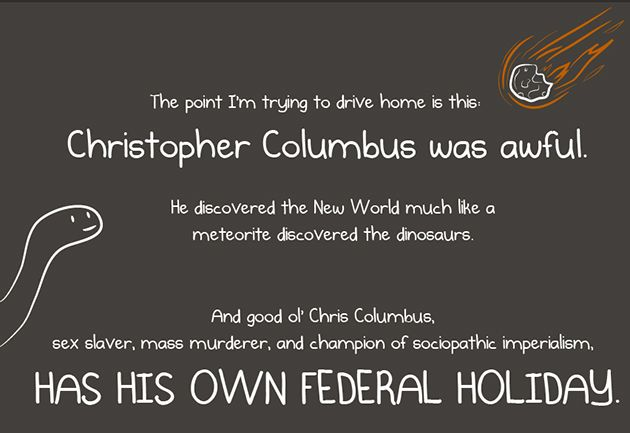 Christopher Columbus...imagine that