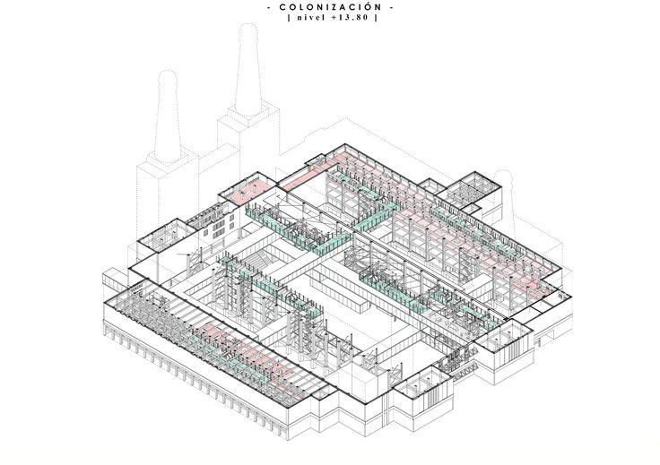 Iris Pablo García | PFC ETSAM Colonia de Artistas en Battersea Power Station, London