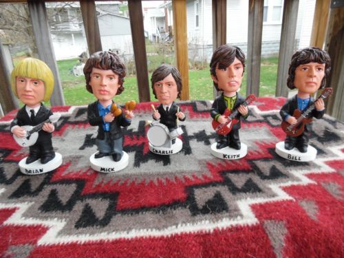 Rarely Seen Old Rolling Stones Bobbleheads Mint Condition