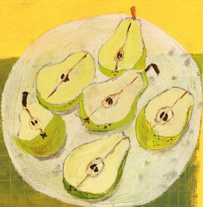 Plate of Pears 8x10 by redfishcircle on Etsy, $20.00