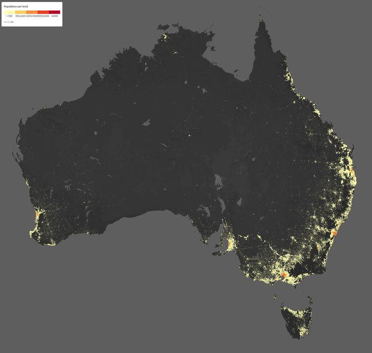 Australiau0027s Population Density 3466 best maps images