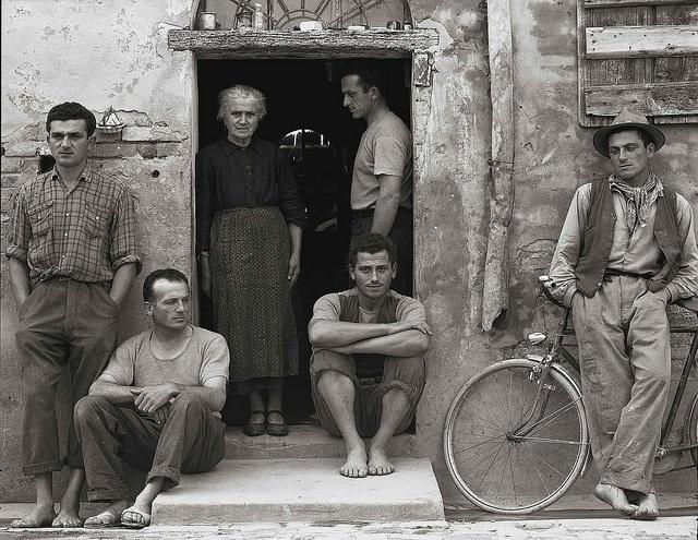 La Famiglia, Luzzara, Italy, 1953, by Paul Strand