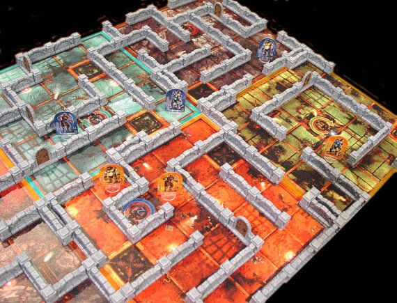 Check out this item in my Etsy shop https://www.etsy.com/listing/257614353/dungeon-twister-game-board-fantasy-game