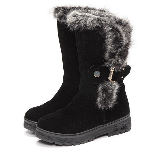 Women Winter Boots Ankle Short Boots Artificial Fur Snow Boots US Size 5 - 10 #Unbranded #AnkleBoots #Casual