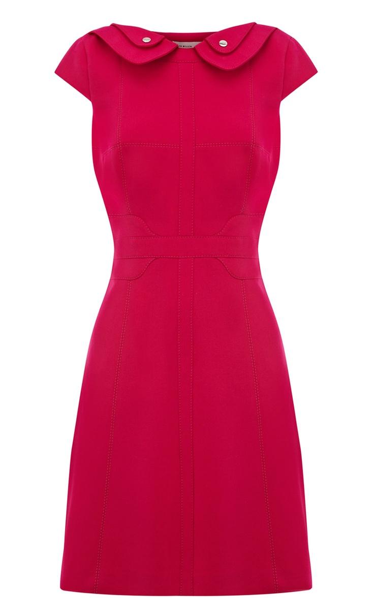 karen millen colourful crepe dress