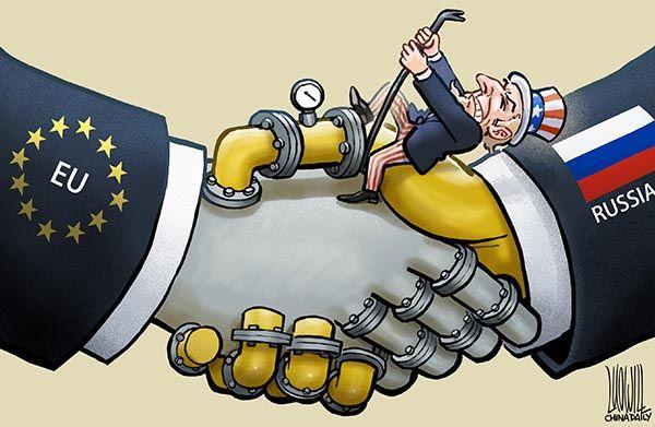 Unfazed,gas,Russia,EU,US   Cartoon, Russia, Gas
