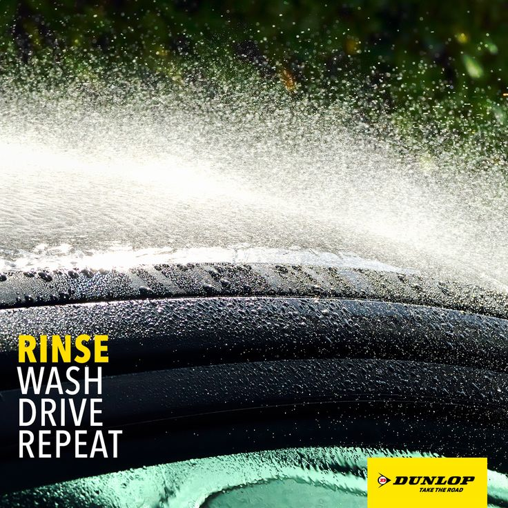 #DunlopTips: Rinse your car before washing it. No dirt means no scratching. You're welcome.