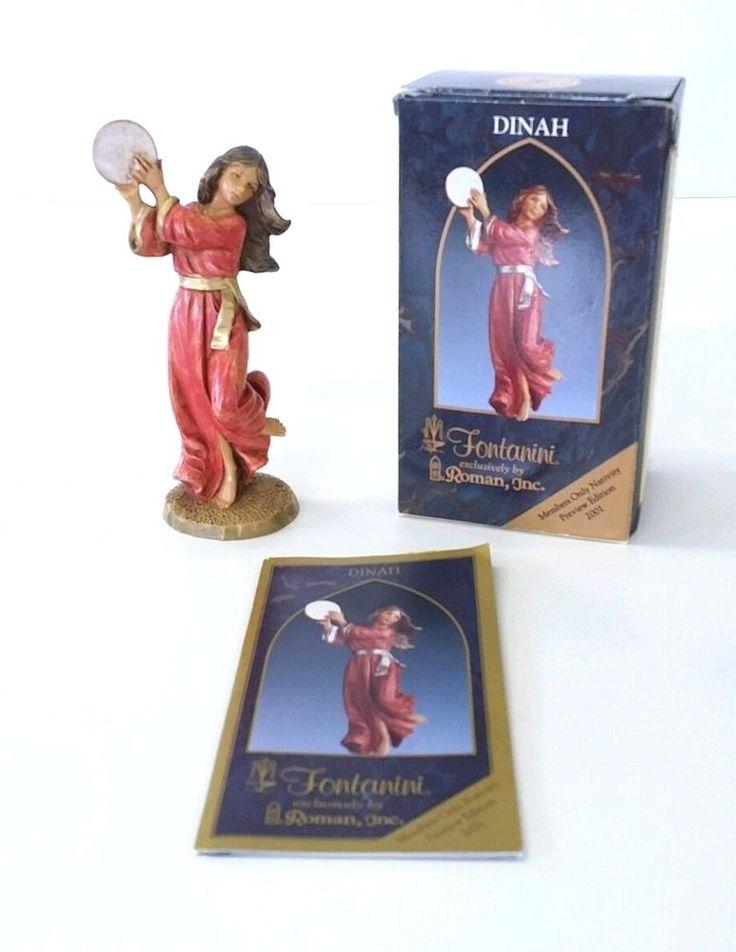 Fontanini Nativity 5 Inch Christmas Dinah Members ONLY Figure 2001 MIB 65377 #FontaniniHeirloomNativity