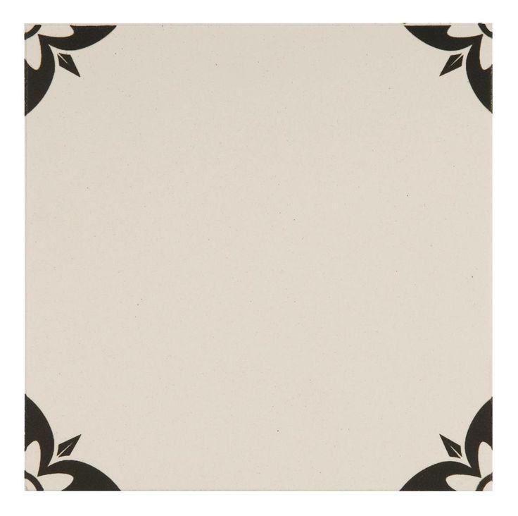 Empire Black on Dover White Ceramic Odyssey Tile