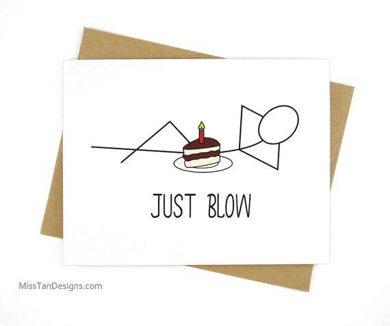 Divertido sólo golpe novio de tarjeta cumpleaños por MissTanDesigns