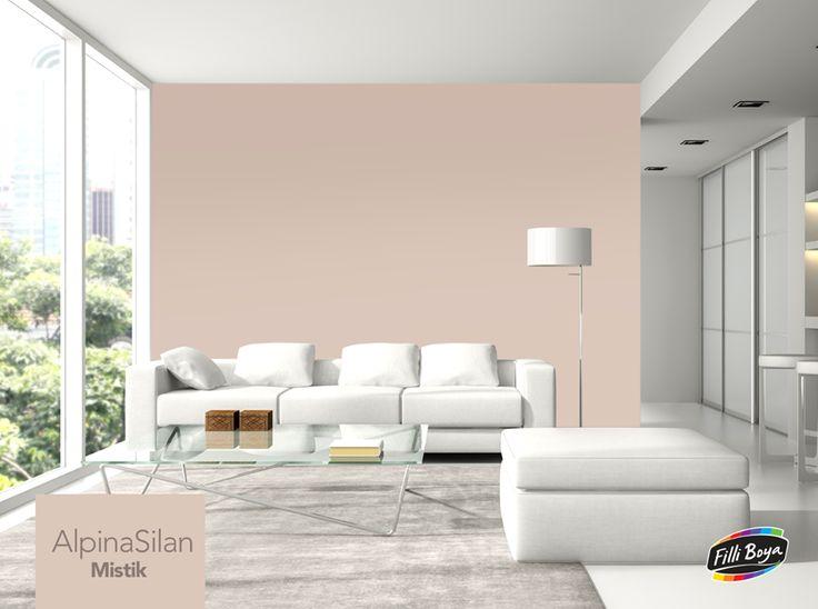 İpeksi dokusu ile ferahlık hissi veren AlpinaSilan, Mistik rengi ile evinize romantik ve modern bir görünüm katacak. http://bit.ly/1nCvhcn