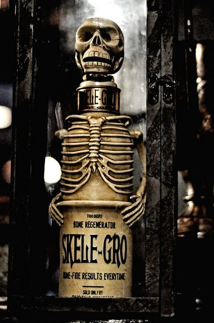 I've always wanted to display a bottle of Skele-Gro from Harry Potter.