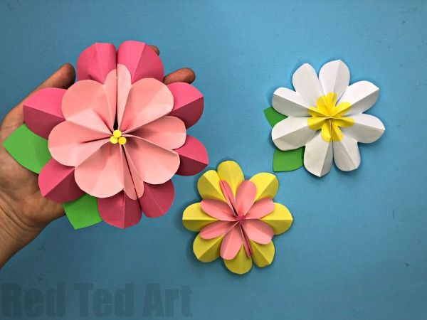 Easy 3d Paper Flowers For Spring 3d Paper Flowers Paper Flowers