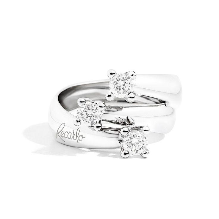 Anello Trilogy Eternity Oro Bianco R02TY677/040 - Recarlo