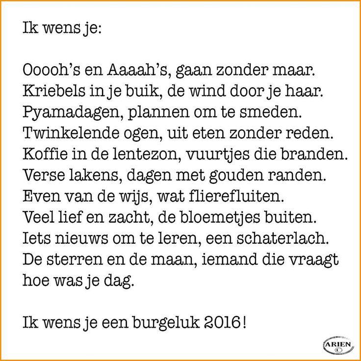 Ik wens je... #gedicht #tekst #kaart #nieuwjaar #2016 #wensen #versje