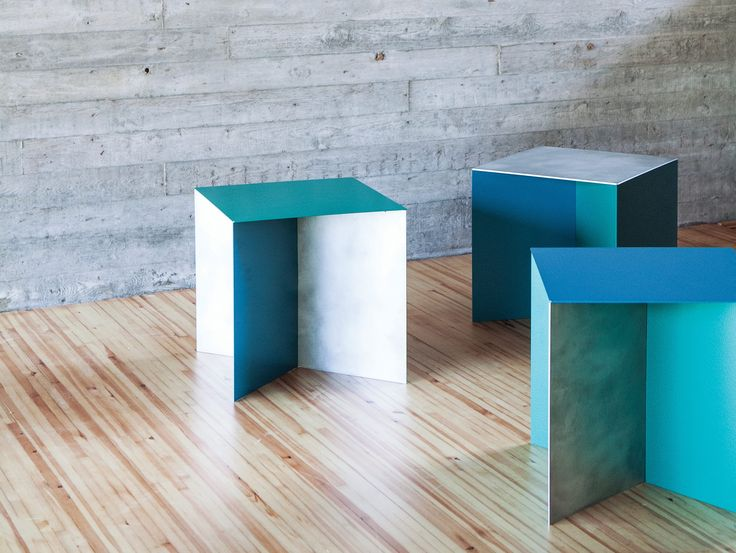 ... Building Of The Metropolitan Museum In New York, Muller Van Severenu0027s  Alu Square Table Is A Lightweight Aluminum Bench Or Side Table That Opens Up  A ...