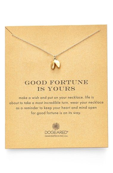 Dogeared Fortune Cooke Pendant Necklace available at #Nordstrom