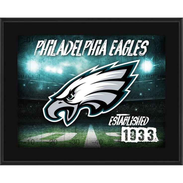 "Philadelphia Eagles Fanatics Authentic 10.5"" x 13"" Sublimated Horizontal Team Logo Plaque"