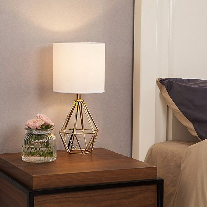Cotulin Mini Golden Delicate Design Hollowed Out Base Bedroom Living Room Side Table Lamp With Golden Ba Living Room Side Table Side Table Lamps Home Lighting