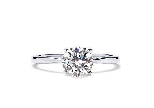 Classic Solitaire Engagement Rings From 77 Diamonds with Delicacy Band (My Favorite Band Style)