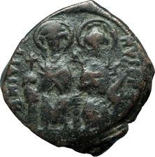 JUSTIN II & SOPHIA 565AD Constantinople Follis Ancient Byzantine Coin i66074