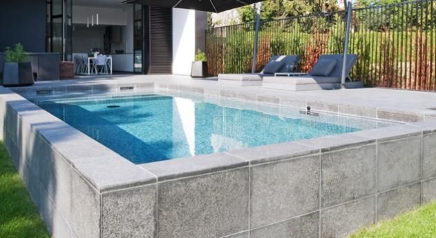 26 best images about pool tiles on pinterest mosaics for Piscine semi enterree a debordement